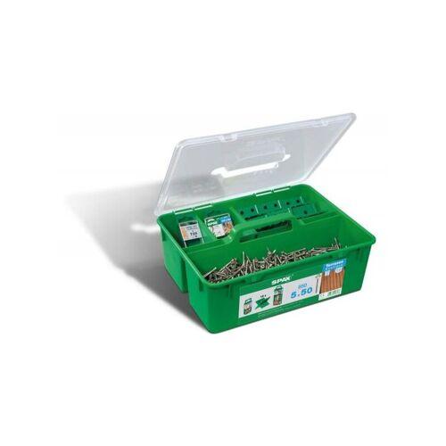 SPAX GREEN Box Terrasse, Profiset für Terrasse mit Zylinderkopf,