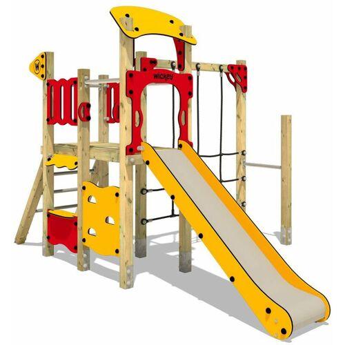 WICKEY Spielplatzgerät aus Massivholz WICKEY PRO MAGIC Smile mit Rutsche - Für