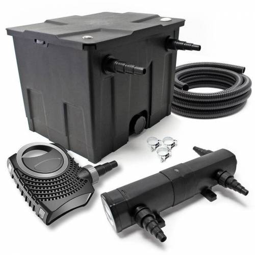 Wiltec - SunSun CBF-350 CUV-224 24W SET NEO3800 Pumpe Schlauch