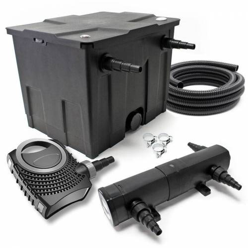 Wiltec - SunSun CBF-350 CUV-224 24W SET NEO8000 Pumpe Schlauch