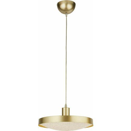 03-searchlight - Suspension führte Untertasse - Gold mit Kristallsand