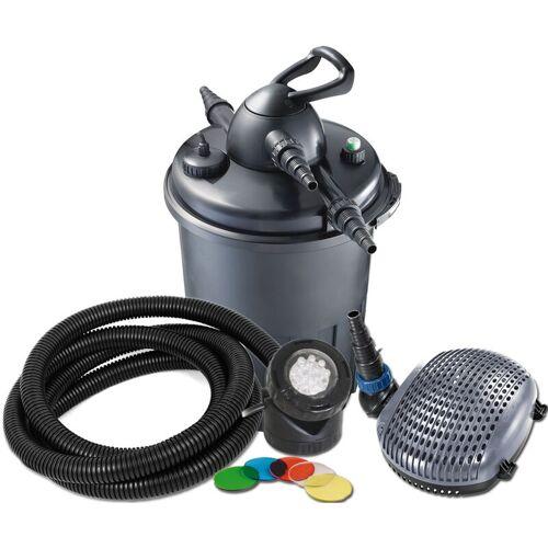 JEBAO Teichfilterset Druckfilter Bio Pression, UV-C 24 W, Pumpe 8000