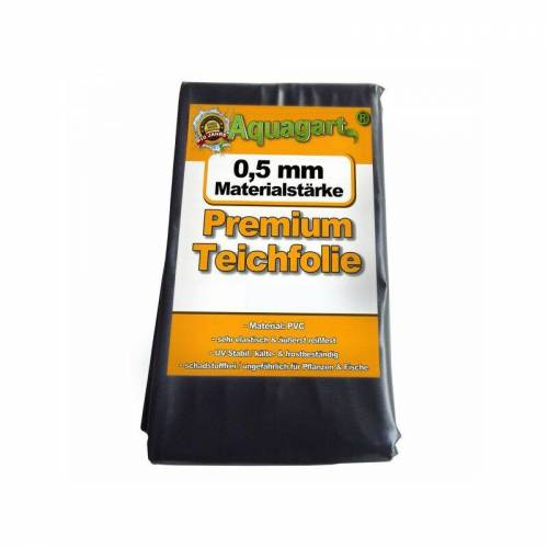 AQUAGART Teichfolie PVC 7m x 6m 0,5mm schwarz Folie für den Gartenteich