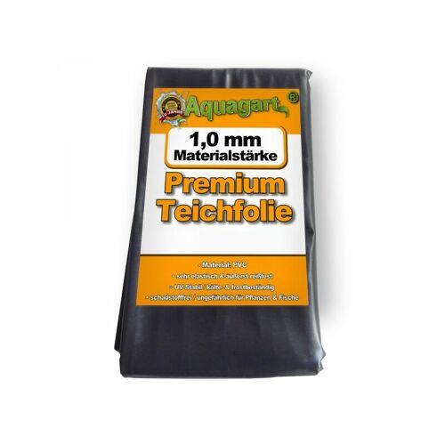 Aquagart - Teichfolie PVC 8m x 2m 1,0mm schwarz Folie für den