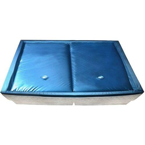 TOPDEAL Wasserbettmatratzen-Set mit Einlage + Trennwand 200 x 220 cm F5 11627