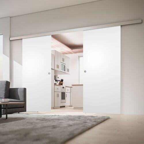 inova Star Tür doppelflügelige Schiebetür Holz weiß 1760x2035 Doppel Holztür