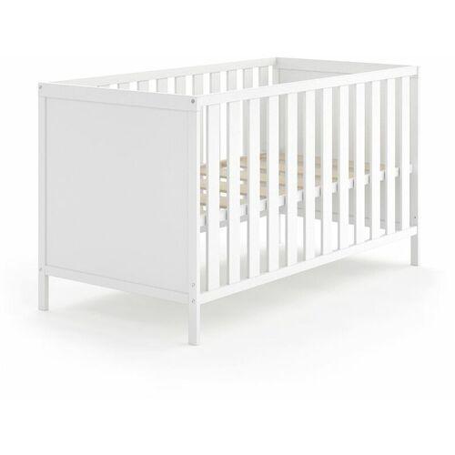 VITALISPA Babybett JONAS 70x140cm Gitterbett Umbaubett Kinderbett umbaubar weiß