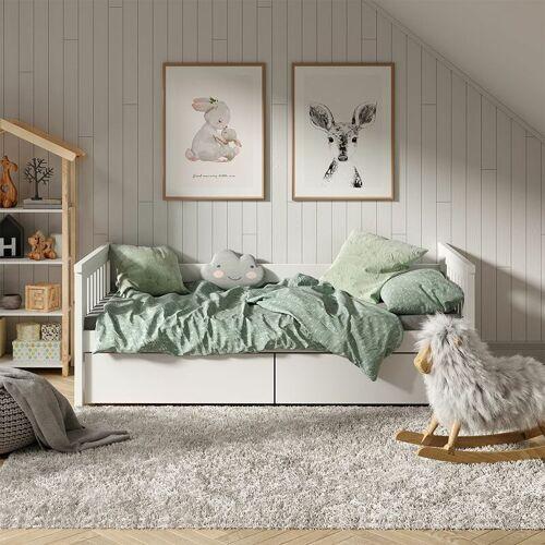 VitaliSpa Tagesbett Luna Kinderbett 90x200cm Kojenbett Jugendbett