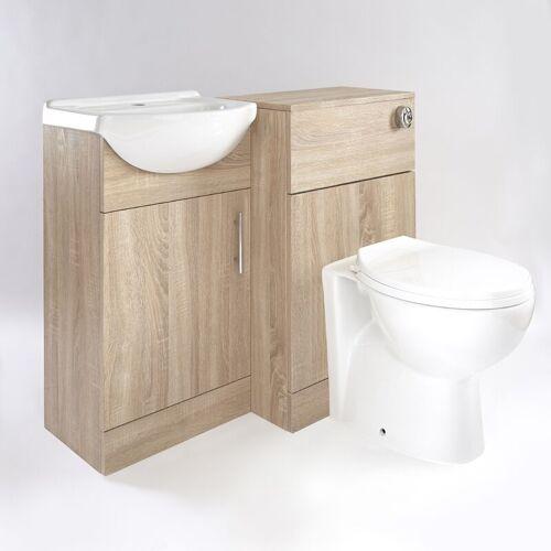 HUDSON REED Waschbecken und Toiletten Set - Eiche 940mm - Standard Option 1