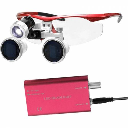 ASUPERMALL Wearable Tragbare Lupe 3.5X 420mm Surgical Medical Binokular Lupe Lupen