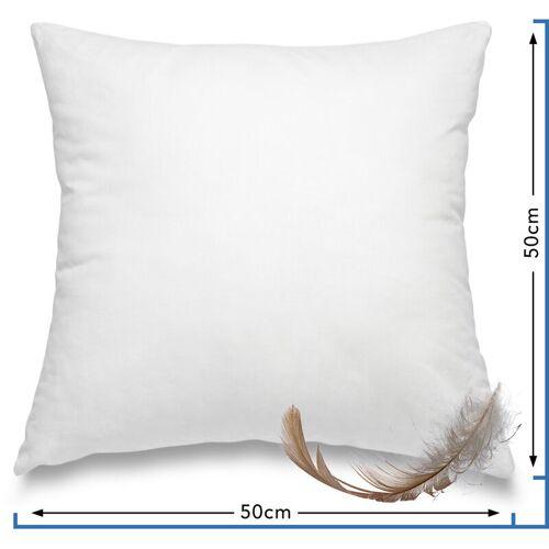 WOMETO Federkissen Kissen 100% Federn 50x50 cm - 600g OekoTex
