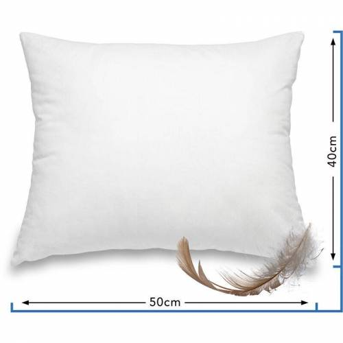 WOMETO Federkissen Kissen 100% Federn 40x50 cm - 500g OekoTex