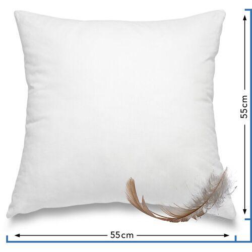 WOMETO Federkissen Kissen 100% Federn 55x55 cm - 750g OekoTex Füllkissen Bezug