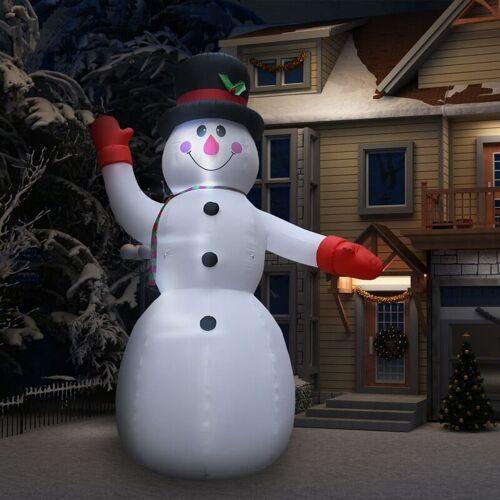 YOUTHUP Aufblasbarer Schneemann mit LED zu Weihnachten IP44 450 cm XXL