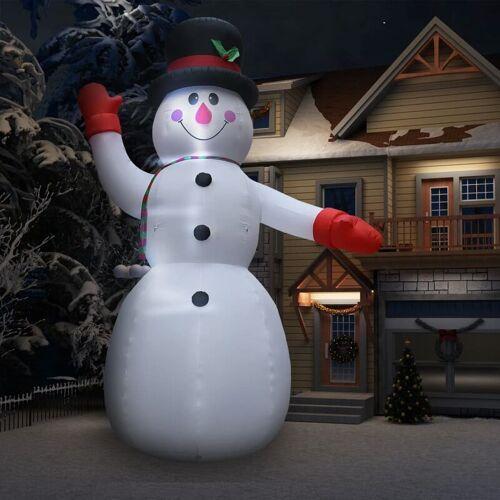 YOUTHUP Aufblasbarer Schneemann mit LED zu Weihnachten IP44 600 cm XXL
