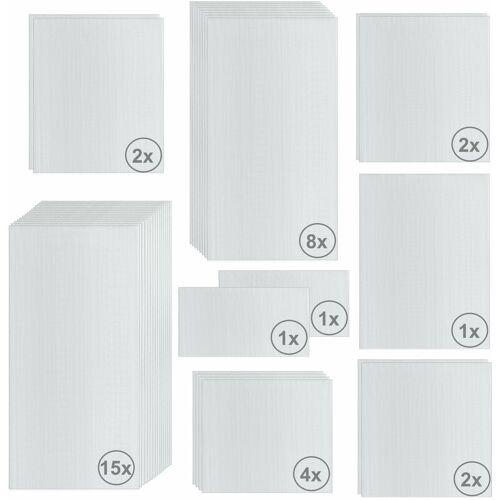 ZELSIUS Hohlkammerstegplatten Set 36-teilig   6 mm Ersatz Gewächshausplatten