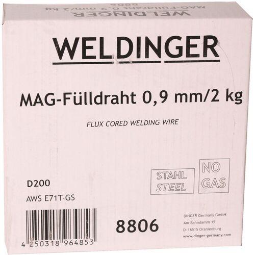 WELDINGER Fülldraht 0,9 mm 2 kg D200 für MIG/MAG-Schweißgeräte WELDINGER