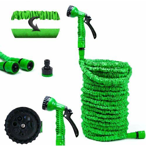 Grafner® Flexibler 1/2' Gartenschlauch inkl. 7 Funktionen Brause 7,5m
