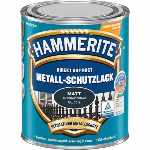 HAMMERITE Metall Schutzlack HA 750 ml dunkelgrau - 3 Stück - Hammerite