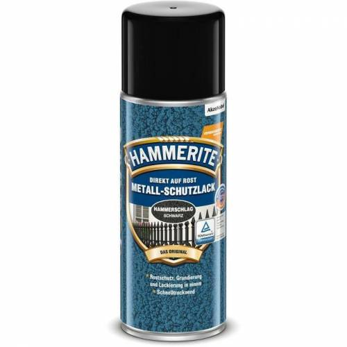 HAMMERITE Metallschutz-Lack Hammerschlag Schwarz 400ml - 5087621 - Hammerite