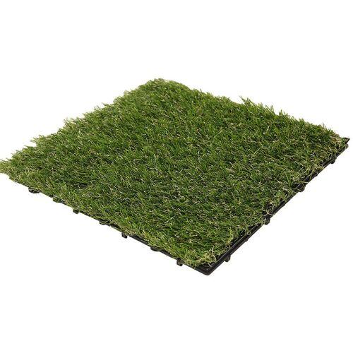 HOME DELUXE Kunstrasen Fliesen (1 m²) I Klickfliese, Balkonfliese, Poolfliese