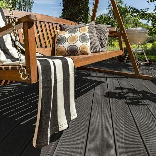Home Deluxe - WPC Terrassendielen Anthrazit Varianten I Terrassenbelag,