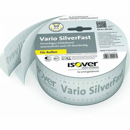 ISOVER Klebeband SilverFast 60 mm x 25 m - Isover
