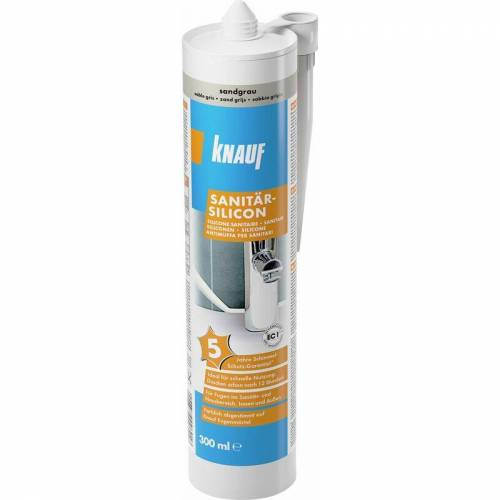 KNAUF Sanitär-Silikon sandgrau, 300 ml - Knauf