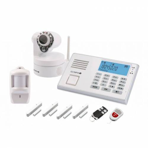 Olympia Drahtloses GSM-Alarmanlagen-Set 9081 mit IP-Kamera - Olympia