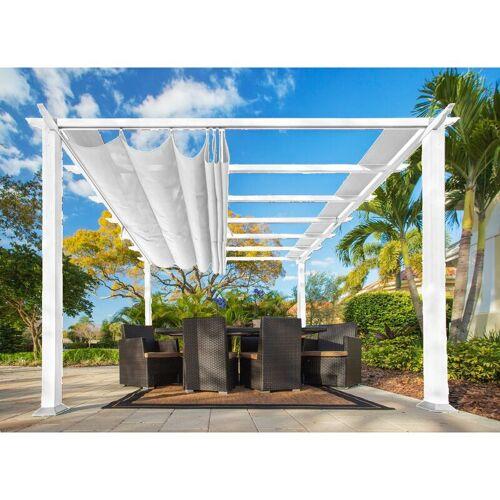PARAGON OUTDOOR Pergola 'Florida' weiß 350 x 350 x 235 cm (L x B x H) - Paragon Outdoor