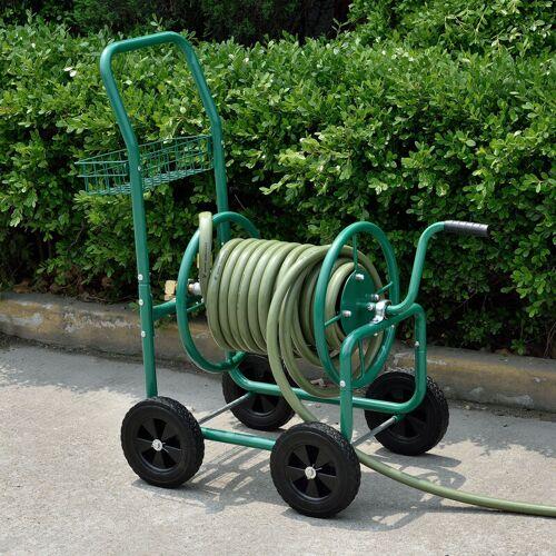 PRO.TEC L Schlauchwagen für 3/4' Schlauch bis zu 70m Grün
