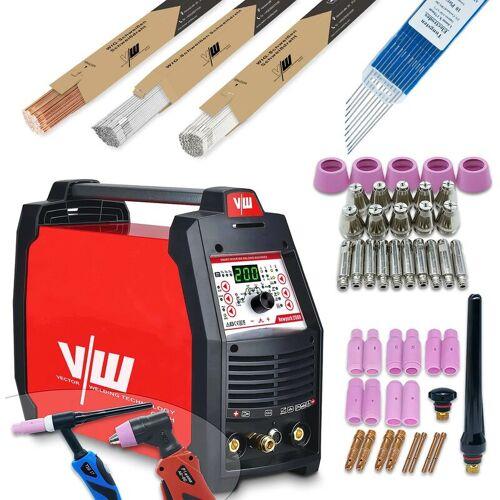 VECTOR WELDING® Vector Welding ® - Schweißgerät SET AC/DC WIG 200A Puls Mit