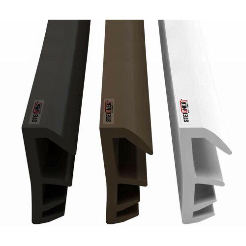 STEIGNER Flügelfalzdichtung Fensterdichtung Nutbreite 5mm aus TPE, 50m, Braun,