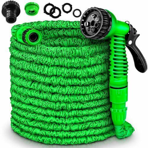 TRESKO ® Flexibler Gartenschlauch Wasserschlauch dehnbarer Flexischlauch 45m