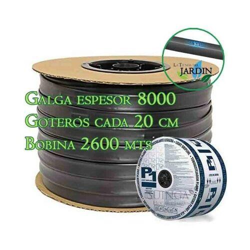 Suinga - Tropfbewässerungsband 16mm 2600 mts. 8 mil Spurweite. Tropfer