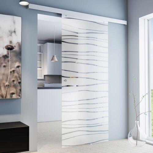 inova Star Tür Schiebetür Glas geschwungen 880x2035 Zimmertür Glasschiebetür
