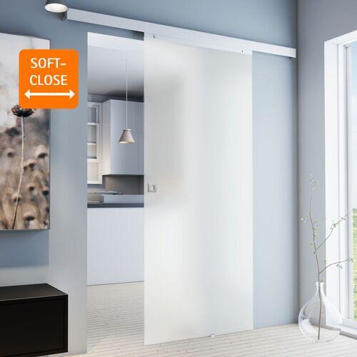 inova Star Tür Schiebetür Glas satiniert 880 x 2035 Zimmertür Glasschiebetür