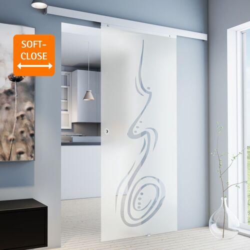 inova Star Tür Schiebetür Glas-Tür 755x2035 Zimmertür Glasschiebetür curved
