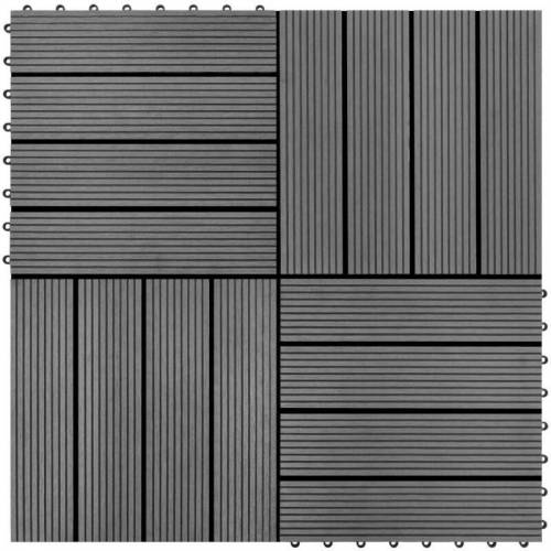 Vidaxl - WPC Holz Terrassenfliese Bodenfliese Fliese