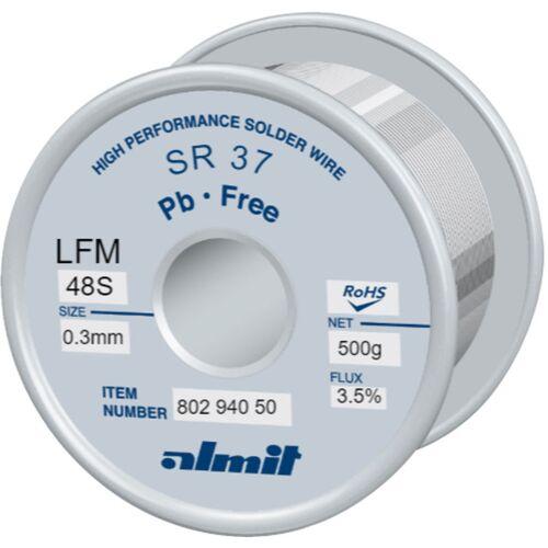 Almit Lötdraht bleifrei, SR37 LFM-48 S, 0,3 mm, 500 g
