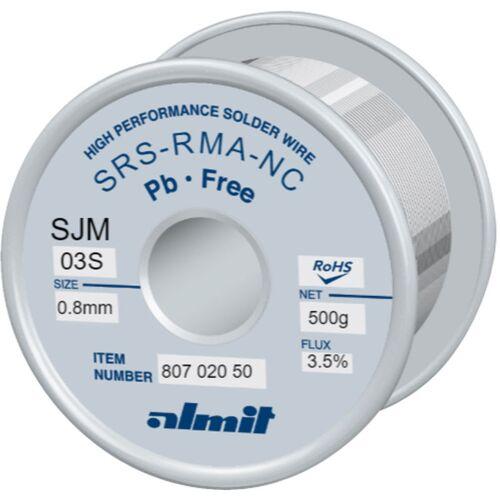 Almit Lötdraht bleifrei, SRS RMA-NC SJM, 0,8 mm, 500 g