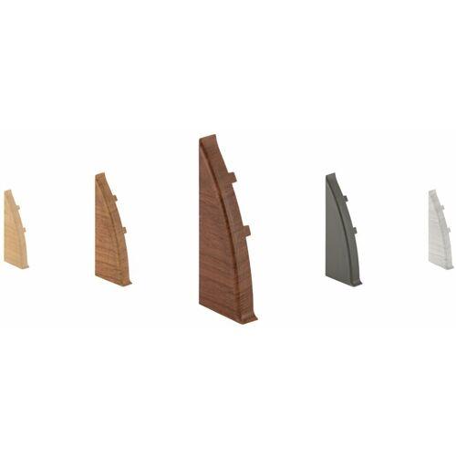 LEMAL Endkappen links für PVC Sockelleisten   Kabelkanal   Fußleisten