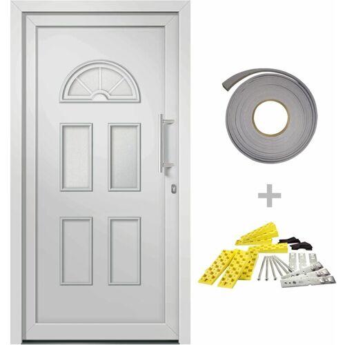 VIDAXL Haustür Weiß 98x208 cm - VIDAXL
