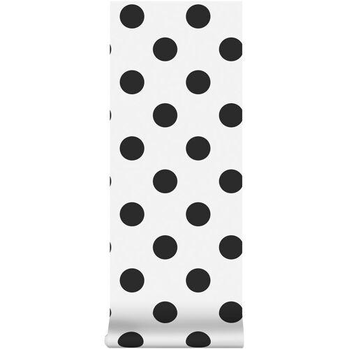 Superfresco Easy - Kinderzimmer - Vliestapete - Punkte - Schwarz - 10m