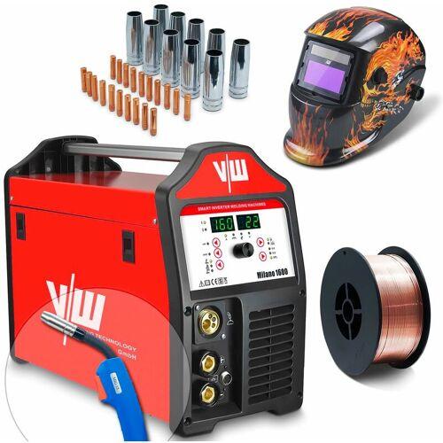 VECTOR WELDING® Vector Welding ® - MIG/MAG Schweißgerät SET Schweißerhelm, 5kg