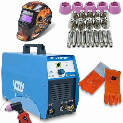 VECTOR WELDING® Vector Welding ® - Plasmaschneider SET 60A Schweißerhelm,