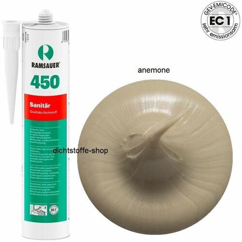 RAMSAUER® Ramsauer 450 Sanitär 1K Silicon Dichtstoff 310ml Kartusche anemone
