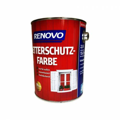 RENOVO 2,5 L Wetterschutzfarbe Nr.9900 schwarz - Renovo