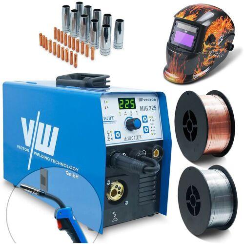 VECTOR WELDING® Vector Welding ® - Schweißgerät SET MIG/MAG Schweißhelm 2kg Fülldraht