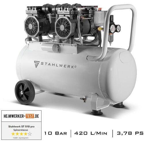 STAHLWERK Druckluft Kompressor ST 510 pro Flüsterkompressor mit 50 L